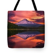 Mount Hood Sunrise Tote Bag