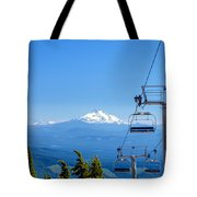 Mount Jefferson And Chairlifts Tote Bag