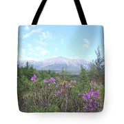 Mount Katahdin And Wild Flowers Tote Bag