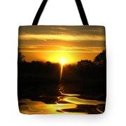 Mount Lassen Sunrise Gold Tote Bag