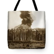 Mount Lassen Volcano California 1914 Tote Bag