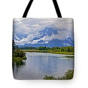 Mount Moran From Oxbow Bend N Grand Teton National Park-wyoming Tote Bag