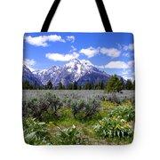 Mount Moran Wildflowers Tote Bag by Brian Harig