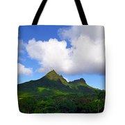 Mount Olomana Hawaii Tote Bag