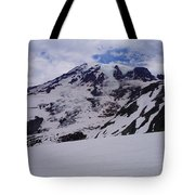 Mount Rainer In The Clouds Tote Bag
