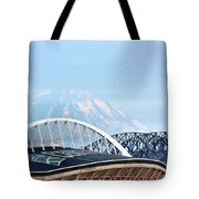 Mount Rainier Backdrop Tote Bag