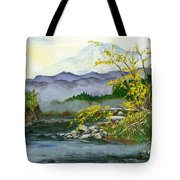Mount Rainier From Carbon River Tote Bag