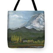 Mount Rainier From Lake Rap John  Tote Bag