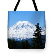 Mount Rainier Panorama Tote Bag