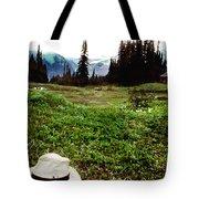 Mount Ranier Cabin Tote Bag