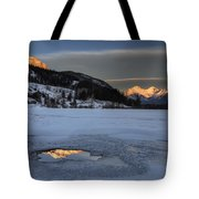 Mount Rundle And Vermillion Lakes Tote Bag