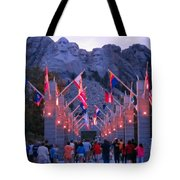 Mount Rushmore At Night Tote Bag