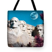 Mount Rushmore In South Dakota Tote Bag