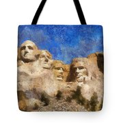 Mount Rushmore Monument Photo Art Tote Bag