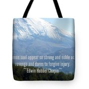 Mount Saint Helen's Text Tote Bag