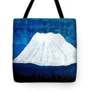 Mount Shasta Original Painting Tote Bag