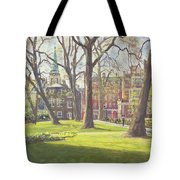 Mount Street Gardens, London Oil On Canvas Tote Bag