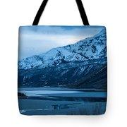 Mount Timpanogos Winter Evening Tote Bag