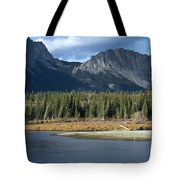 Mount Yamnuska Tote Bag