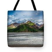 Mountain Across The River Tote Bag