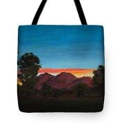 Mountain At Night Tote Bag