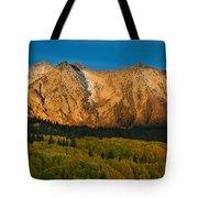 Mountain Autumn Sunrise Tote Bag