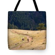 Mountain Biker Tote Bag