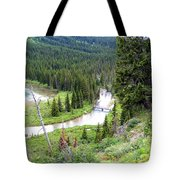 Mountain Bridge Tote Bag