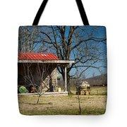 Mountain Cabin In Tennessee 2 Tote Bag by Douglas Barnett