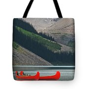 Mountain Canoes Tote Bag
