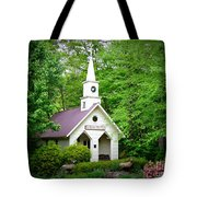 Mountain Chapel Tote Bag by Crystal Joy Photography