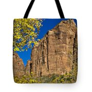 Mountain Cliffs At Zion Tote Bag