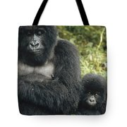 Mountain Gorilla Mother And Baby Tote Bag