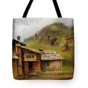 Mountain House  Tote Bag by Albert Bierstadt