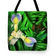 Mountain Iris And Ferns Tote Bag