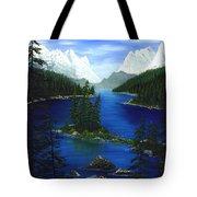 Mountain Lake Canada Tote Bag