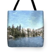 Mountain Lake Retreat Tote Bag