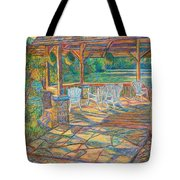 Mountain Lake Shadows Tote Bag by Kendall Kessler
