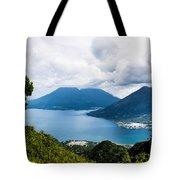 Mountain Lakes In Guatemala Tote Bag