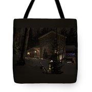 Mountain Lodge Tote Bag