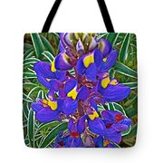 Mountain Lupine In Ancient Incan Pisac In Andes Mountains Above Sacred Valley-peru   Tote Bag
