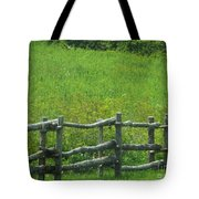 Mountain Meadow New York Hwy 30 Tote Bag