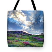 Mountain Meadow Of Flowers Tote Bag