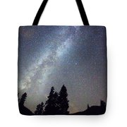 Mountain Milky Way Stary Night View Tote Bag