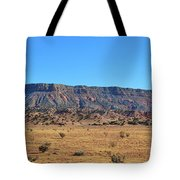 Mountain Over The Plains Tote Bag