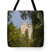 Mountain Peak In Yosemite National Park Tote Bag