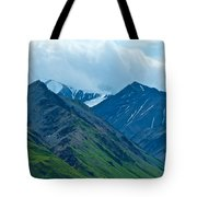 Mountain Peaks From Eielson Visitor's Center In Denali Np-ak Tote Bag