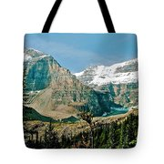 Mountain Peaks From Plain Of Six Glaciers Trail In Banff Np-albe Tote Bag