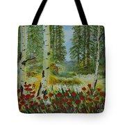 Mountain Poppies Tote Bag