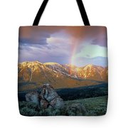 Mountain Rainbow Tote Bag